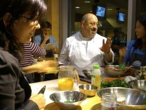 Chef explaining
